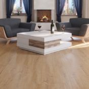 7.17 Square Meters of LAMINATE FLOORING SUMMER NATURAL OAK. With a warming natural oak tone, this