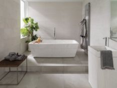 9.35 Square Meters of Porcelanosa Dover Modern Line Arena Wall Tiles. 31.6X90cm per tile. 0.85m2 per
