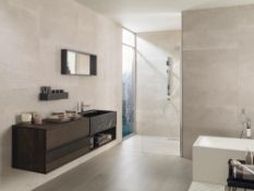 4.25 Square Meters of Porcelanosa Deco Boston Topo Floor and Wall Tiles. 31.6x90cm per tile. 0.
