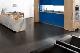 8.52 Square Meters of Porcelanosa Avenue Black Nature Wall and Floor Tiles. 59.6x59.6cm per tile.