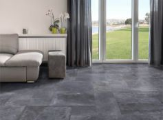 12.78 Square Meters of Porcelanosa Bluestone Metro Nature Floor and Wall Tiles. 56.9x56.9cm per