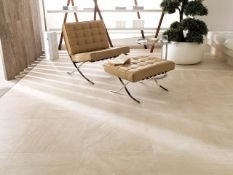 14.63 Square Meters of Porcelanosa Zurich Sand Wall and Floor Tiles. 33.3x100cm per tile. 1.33m2 per