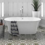 NEW 1600x750mm Ella Freestanding Bath - Large.RRP £2,499.BR259.This gloss white free-standing bath
