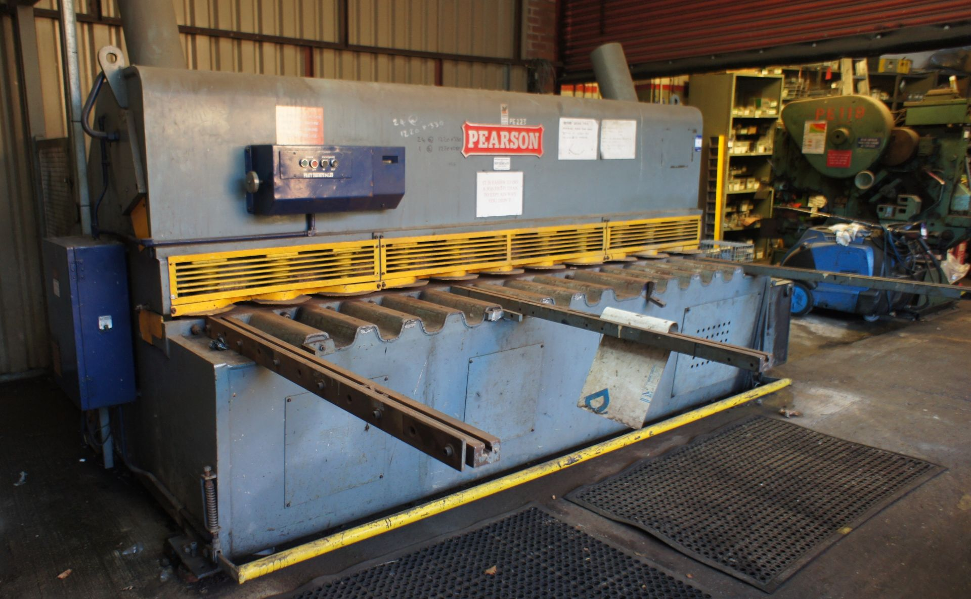 Pearson Hydraulic Guillotine, 3500mm x 10mm, 415v