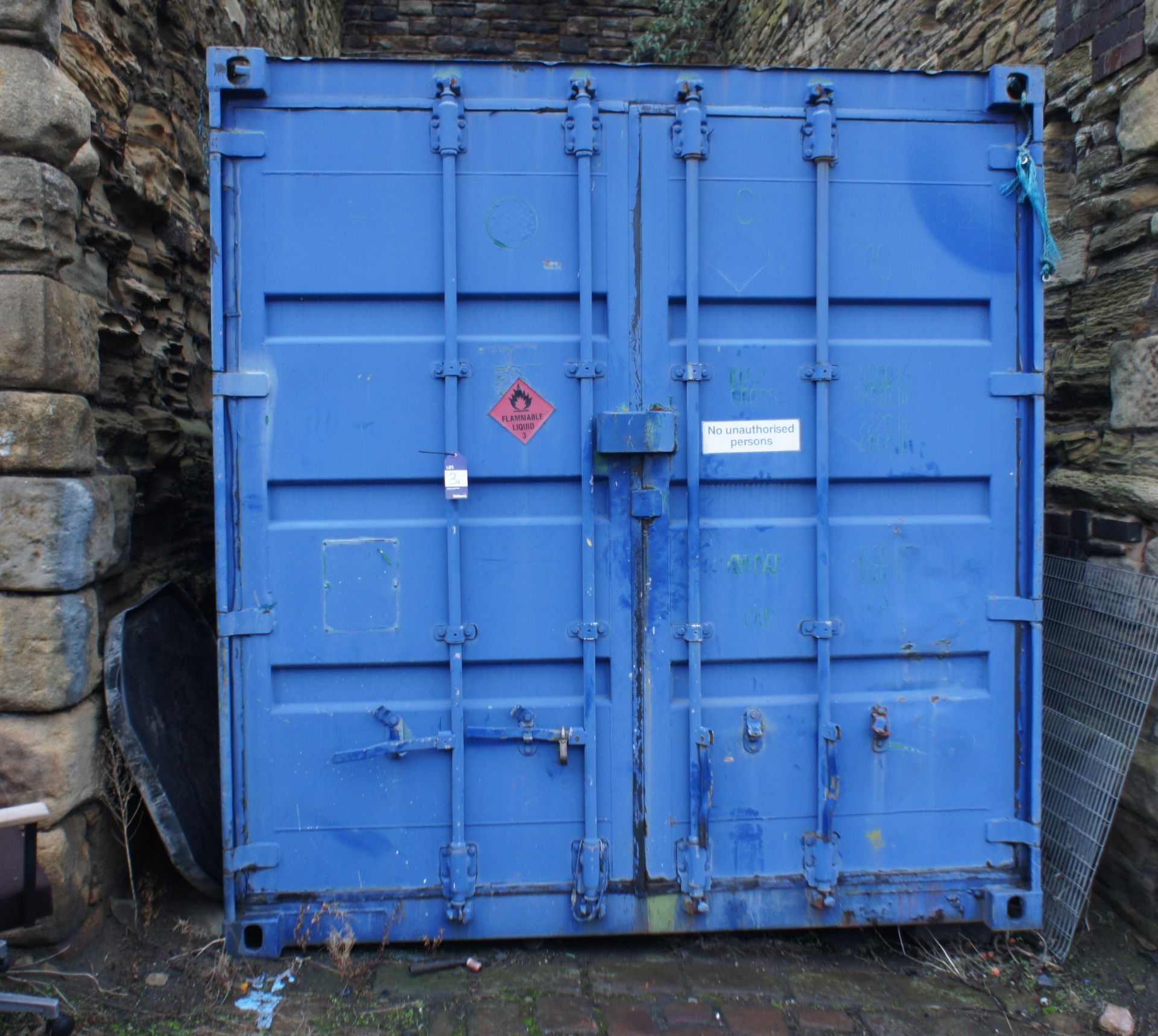 Steel shipping/storage container 20ft x 8ft (Delay - Image 2 of 2