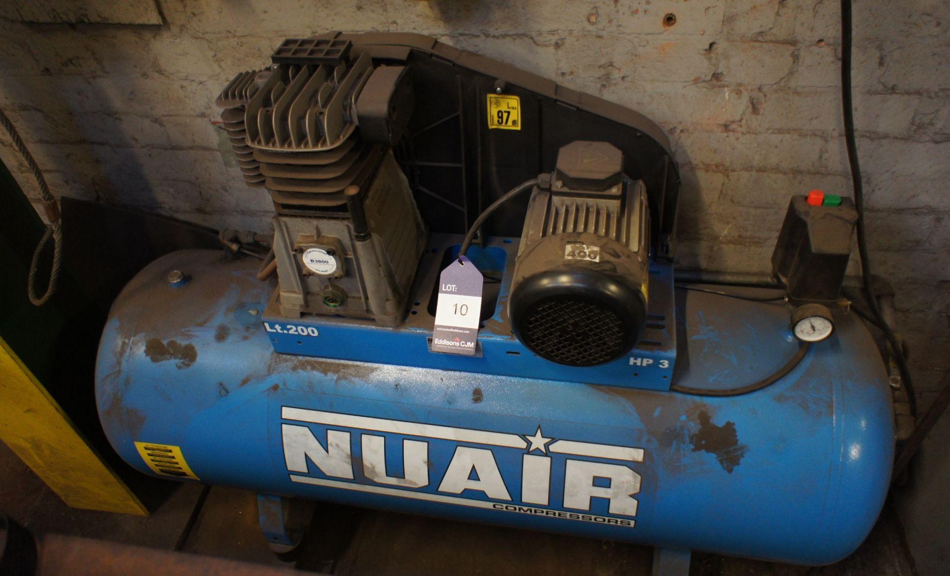Nuair HP3 Receiver mounted Workshop Compressor, 20 - Image 3 of 4