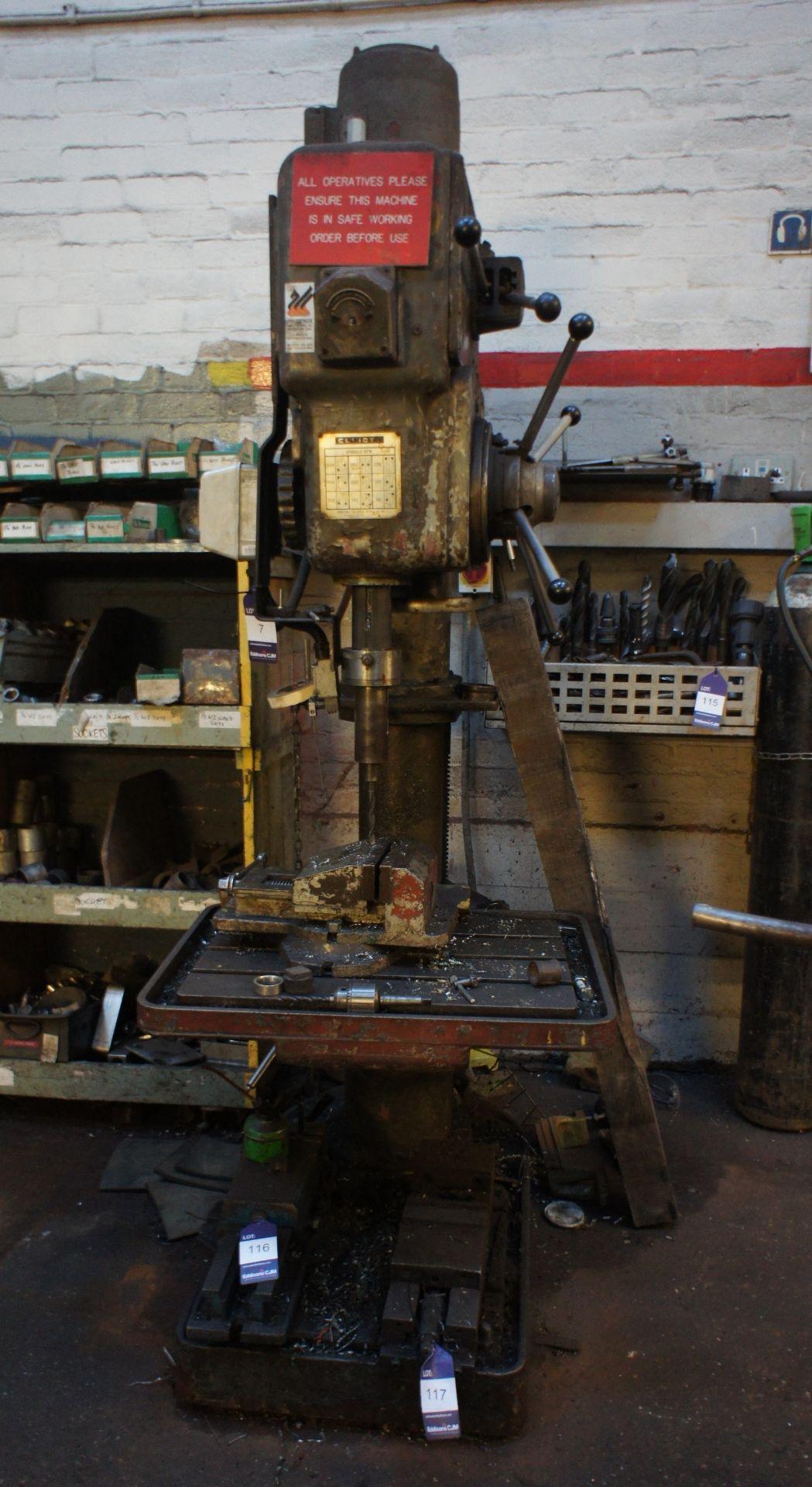 Elliot 5E Heavy Duty Pillar Drill, 415v - Image 2 of 6