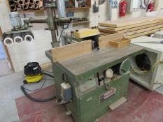 Dominion spindle moulder s/n B503733 with a Bursgreen 3 wheel BLG-8 powerfeed