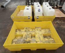 3 Spill Bins, Cleaner Emulsion Wash & Fluids 120kg