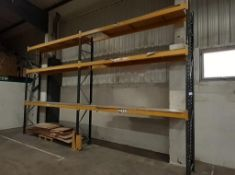 8 bays of boltless Pallet Racking (24ft wide x 13ft high, approx.) 12 frame ends & 21 pairs