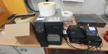 Zebra Z4M Label Printer & 2 Cognitive Advantage DLX Label Printers with labels
