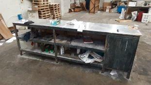 2 Workbenches; 2870 x 660 & 1850 x 725