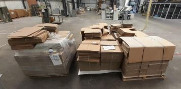 Large quantity of Cardboard Boxes to 9 pallets