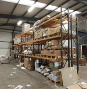 8 bays of boltless Pallet Racking (24ft wide x 13ft high, approx.) 10 frame ends & 24 pairs