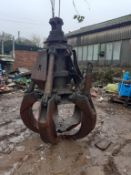 Steel Hydraulic Grab Bucket. Condition Unkown