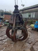 Steel Hydraulic Grab Bucket. Condition Unkown