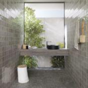 NEW 17.1m2 Procelanosa Ronda Grey Feature Tiles.20x31.6cm per tile. 1.14m2 per pack.Beyond its