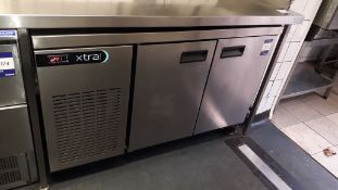 Foster XR2H Stainless Steel 2 Door Undercounter Refrigerator (2016) Serial Number E5460624
