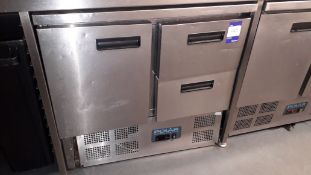 Polar U637 Stainless Steel 1 Door 2 Drawer 240Ltr Undercounter Fridge Serial Number 258759