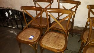 4 x Bent Wood Dining Chairs with Drop In Rattan Seats