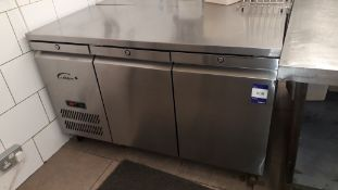 Williams HJC2SAR1JADE Stainless Steel 2 Door Undercounter Refrigerator Serial Number 1411-726132