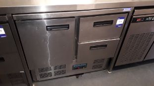 Polar U637 Stainless Steel 1 Door 2 Drawer 240Ltr Undercounter Fridge Serial Number 324482