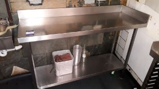 Stainless Steel Topped Food Prep Table 1400mm