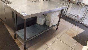 2 x Stainless Steel Topped Food Prep Tables 1500 x 600