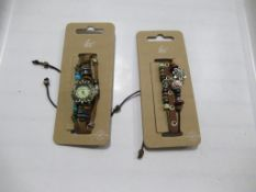 A box of Hippie Chic 'Bazaar' watches and 'Boho' bracelets