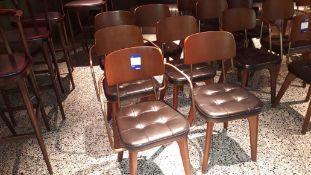 6 x Stellar Works Utility V Wooden Dining Chairs B