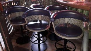 8 x Contract Chair Co. Euston Revolving Bar Stools