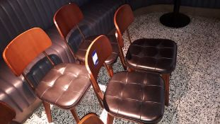 4 x Stellar Works Utility V Wooden Dining Chairs B