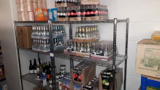 Contents of 2 Racks of Soft Drinks, Mixers, Juices