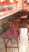 6 x Hill Cross Bette Timber Bar Stools with Arms