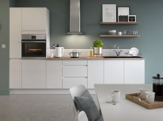 Circa 4,664 items of Kitchen Goods from the following ranges: Gloss White, Gloss Cream, Sandford