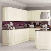 Circa 4,295 items of Kitchen Goods from the following ranges: Gloss White, Gloss Cream, Sandford