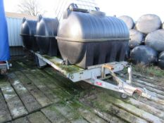 Brenderup F2172 flatbed twin axle trailer, Approx. Water Tanks are excluded