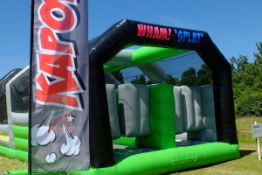 Kapow Inflatable Obstacle course, comprising 12 as