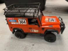 2 Micro Land rovers, Build and race game, comprisi