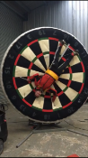 Dizzy Disc football rotating Dart board game
