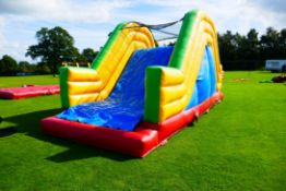 Colour Inflatable Obstacle Course comprising 15 as