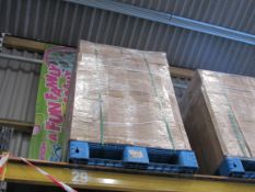 Pallet of pull-up sneeze/ covid protection screens
