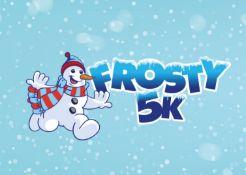 Frosty 5K Fun Run, including inflatable igloo, arc