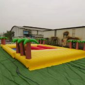 Funky Planet Inflatable Obstacle Course comprising