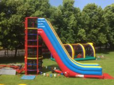 Spider Mountain, Climbing tower and Inflatable sli