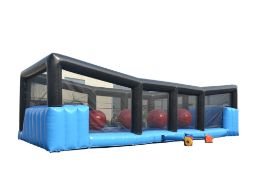 Inflatable Red Wipeout Balls, obstacle game (trailer not included)