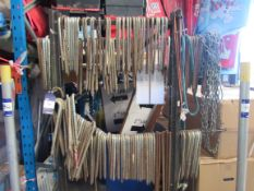 Large quantity of metal pins to rack