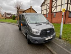 Ford Transit 350 Double Cab Tipper, 2017 (low mileage)