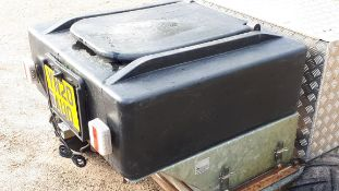 Solway trailer mounted game & poultry spin feeder, year 2019 (excludes trailer, lights, plate etc)