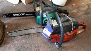 2 x various petrol chain saw, spares and repairs